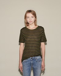 Alexander Wang Stripe Tee Black And Forest