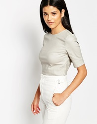 3X1 Boxy Crop Top Stonecoated