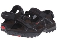 Allrounder By Mephisto Regent Espresso Tech Nubuck Men's Sandals Black