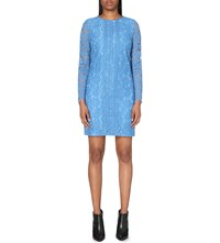 Reiss Suki Lace Shift Dress Azure