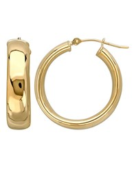 Lord And Taylor 14K Yellow Gold Polished Hoop Earrings