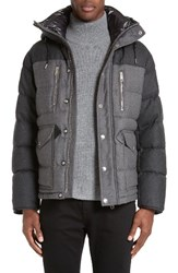 Burberry Men's Leyton Two Tone Wool Quilted Down Jacket