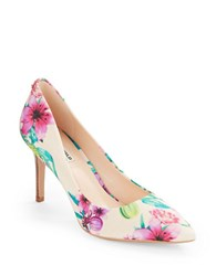 Karl Lagerfeld Royale Floral Point Toe Pumps Multi Colored