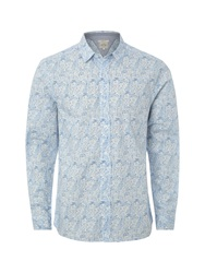 White Stuff Innercity Print Classic Fit Long Sleeve Shirt Blue