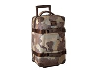 Burton Wheelie Flight Deck Storm Camo Print Carry On Luggage Beige