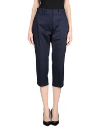 Paul And Shark Trousers 3 4 Length Trousers Women Dark Blue