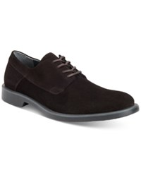 Calvin Klein Men's Yago Suede Oxfords Men's Shoes Dark Brown