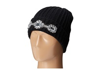 San Diego Hat Company Knh3310 Cable Knit Beanie With Clear Jewels Black Beanies