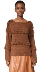 Ulla Johnson Lordes Pullover Saddle
