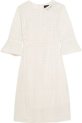 Needle And Thread Geo Crocheted Cotton Lace Dress White