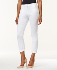 Charter Club Petite Slim Fit Rolled Chino Pants Only At Macy's Bright White