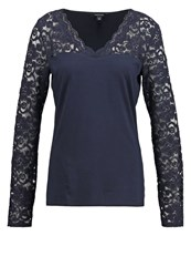 Comma Long Sleeved Top Tinte Blue