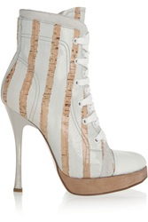 Vivienne Westwood Coated Cork Leather And Suede Boots