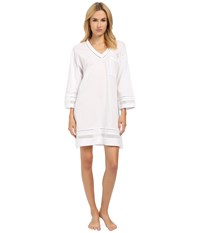 Oscar De La Renta Spa Pima Cotton Knit Sleepshirt Signature White