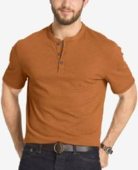 G.H. Bass And Co. Big And Tall Short Sleeve Henley T Shirt Bombay Brown