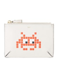 Anya Hindmarch Space Invaders Loose Pocket Pouch Female Red Chalk