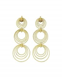 Buccellati 18K Gold Hawaii Triple Drop Earrings