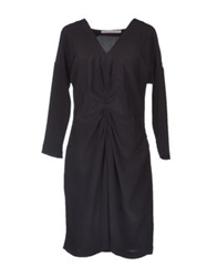 Virginie Castaway Knee Length Dresses Black