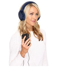 Ugg Classic Earmuff With Speaker Technology Indigo Cold Weather Hats Blue