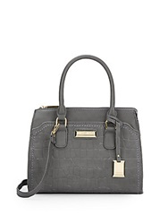 Catherine Malandrino Poppy Embossed Top Handle Bag Slate