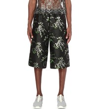 Astrid Andersen Floral Overlay Woven Shorts Black