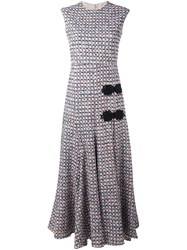Alessandra Rich Sleeveless Long Tweed Dress Black