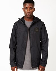 Ourcaste Pierre Hooded Waterproof Jacket Black