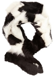 Karl Donoghue Pintos Toscana Shearling Scarf Black And White