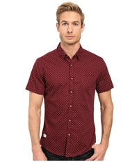 7 Diamonds True To Life Short Sleeve Shirt Maroon Men's Short Sleeve Button Up Red