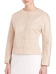 Pauw Long Sleeve Jacquard Jacket Blush