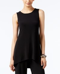 Alfani Petite High Low Sleeveless Tunic Top Only At Macy's Deep Black