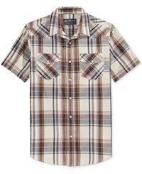 American Rag Men's Patrick Plaid Short Sleeve Shirt Only At Macy's Stone Block
