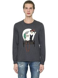 Dolce And Gabbana Wagon Patch Jersey Long Sleeve T Shirt