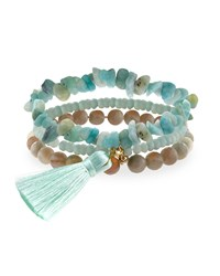 Panacea Amazonite Stretch Bracelet Set Mint