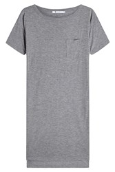 Alexander Wang T By Jersey T Shirt Dress With High Low Hemline Grey