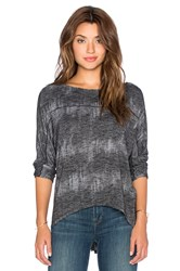 Michael Stars 3 4 Sleeve Wide Neck Dolman Tee Charcoal