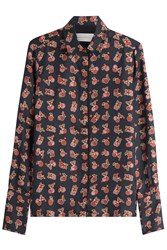Victoria Beckham Printed Silk Blouse Multicolor