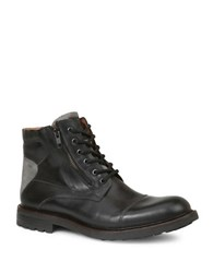 Gbx Tomson Cap Toe Leather Boots Black
