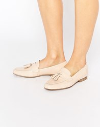 Asos Monty Leather Tassle Loafers Nude Beige