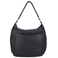 John Lewis Collection Weekend By Georgia Leather Shoulder Bag Black