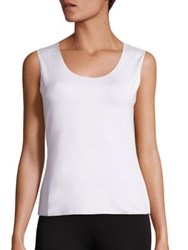 Armani Collezioni Sleeveless Jersey Top White