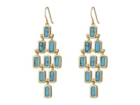 Lauren Ralph Lauren Bonaire French Wire Stone Chandelier Earrings Turquoise Gold Earring Blue