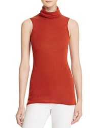 Alice Olivia Alice And Olivia Farley Sleeveless Turtleneck Top Copper