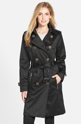 London Fog Women's Long Double Breasted Trench Coat