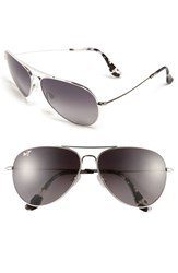 Women's Maui Jim 'Mavericks' 61Mm Polarizedplus2 Aviator Sunglasses Silver Neutral Grey