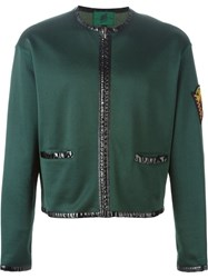Jean Paul Gaultier Vintage Contrast Trim Jacket Green