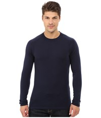 Smartwool Nts Mid 250 Crew Top Deep Navy Men's Long Sleeve Pullover