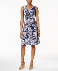 Jm Collection Printed Sleeveless Dress Only At Macy's Black White