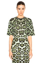 Givenchy Leopard Print Tee In Green Animal Print
