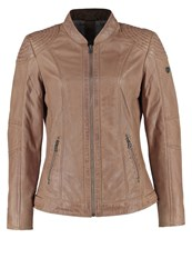 Gipsy Nandy Leather Jacket Light Taupe